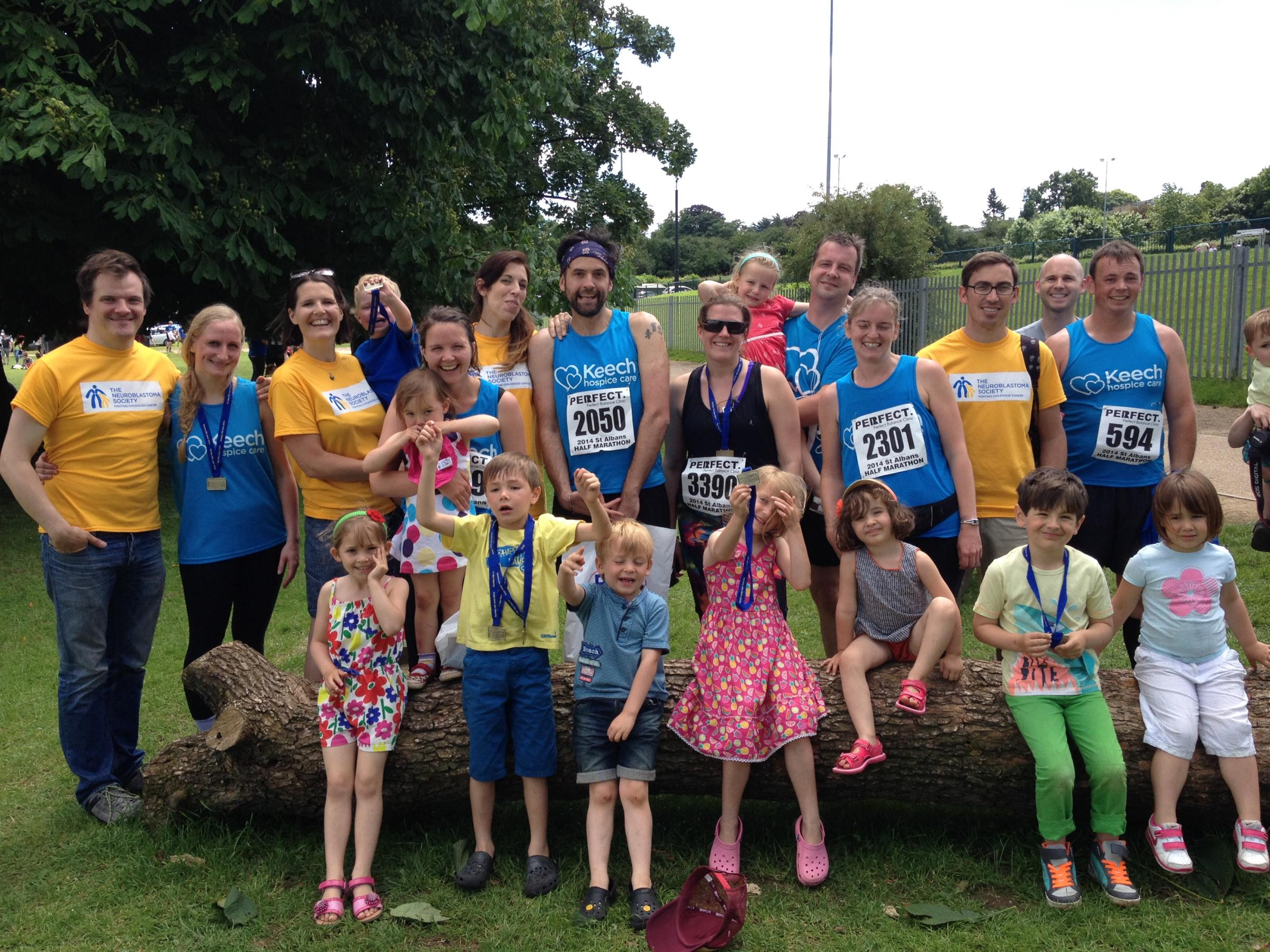 Family raises £2,500 after hospice charity run