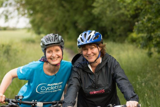 Two mothers are set to cycle their way to raising money for charity