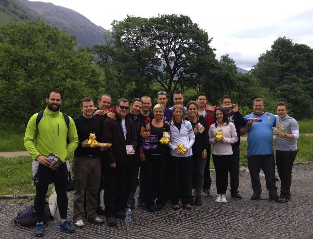 Biscuit firm's charity climbers make a packet