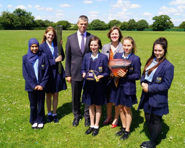 'Inspirational' paralympic footballer visits St Albans Girls' School