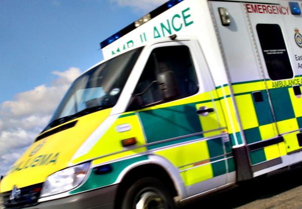 Man rushed to hospital after crash