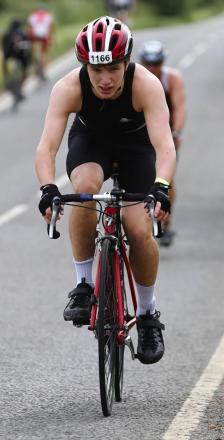 Yoni Stone taking part in the Windsor Triathlon