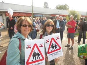 Campaigners protest against New Barnfield incinerator