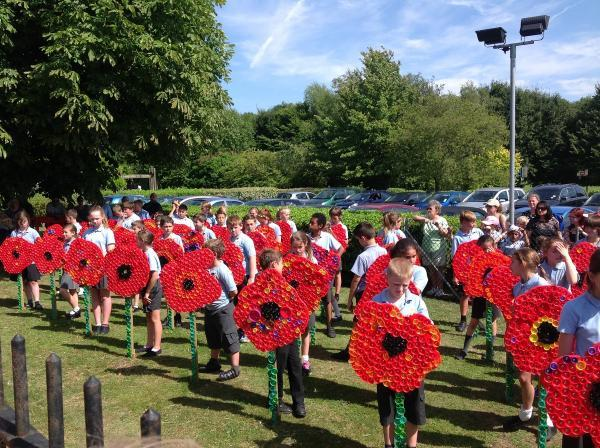 Children design poppy-themed art to commemorate centenary of World War One