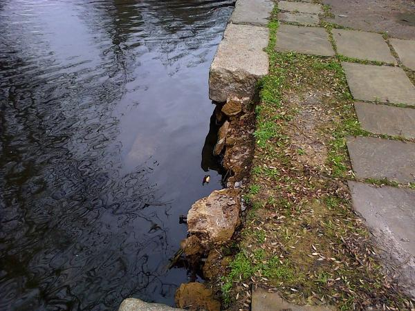 Repairs to masonry in Verulamium Park carried out