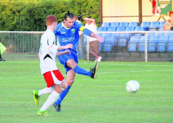 Greg Shaw finds the net against St Albans City Under-21s: James Whittamore