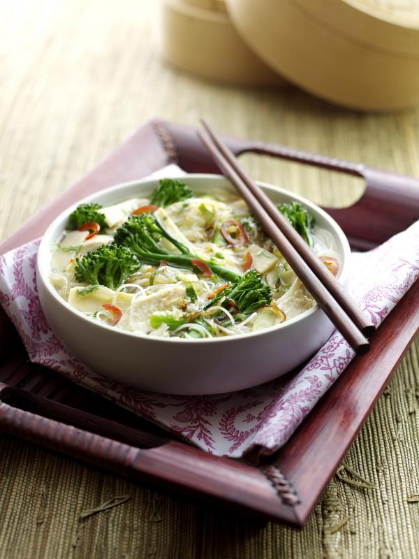 Recipe: Tenderstem and chicken Vietnamese noodle soup
