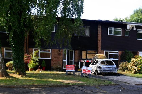 Car fire in Bricket Wood spreads to two houses