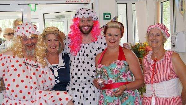 Care home residents celebrate with 'fantastic' beach-themed party