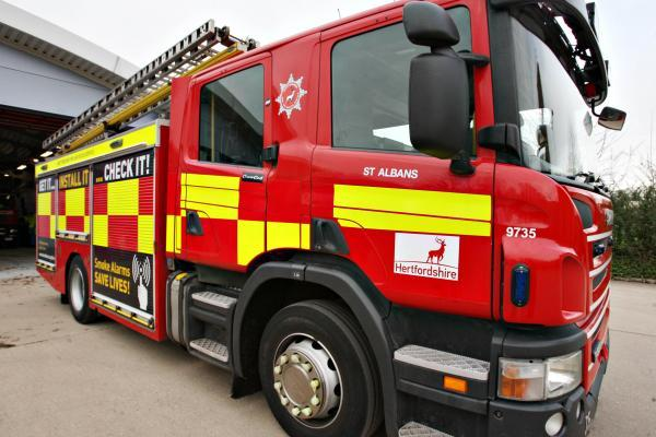 Firefighters called to car fire in Markyate