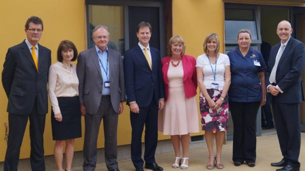 Deputy Prime Minister Nick Clegg given tour of new St Albans mental health unit