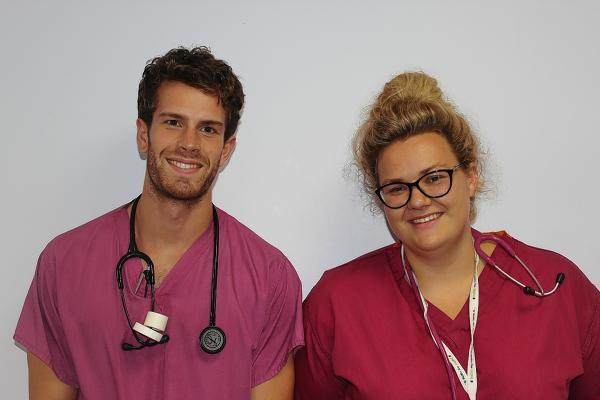 F1s Dr Jess Ball and Dr Chris Hodgkinson were among 55 new doctors to get to work this week.