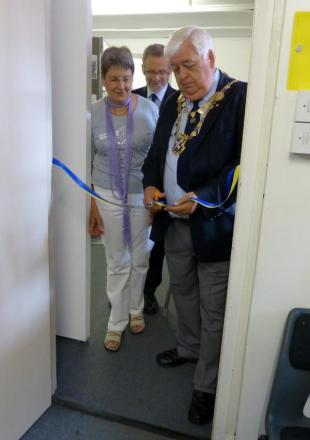 Mayor Geoff Harrison opens exhibition on Sopwell's history.