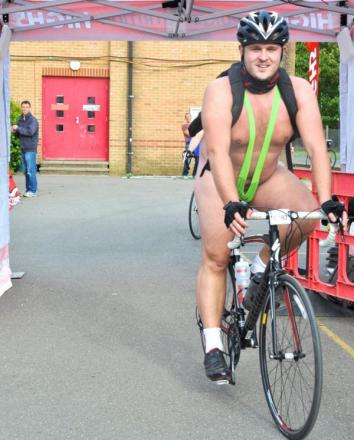 St Albans office worker swaps shirt and tie for a 'mankini' to raise more than £2,000 on charity cycle