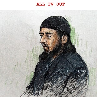 Court sketch of terror suspect Haroon Rashid Aswat , 31, during his extradition hearing in January 2006. Judges have now said h