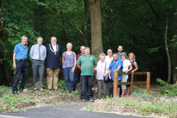 Official opening of new footbridge into Blackgreen Wood takes place