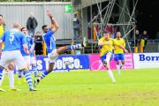 The Saints were left frustrated after failing to score against Staines Town: Leigh Page