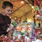 St Albans & Harpenden Review: Bobby-James Shaw, aged six, from Radcliffe, at Radcliffe Christmas market