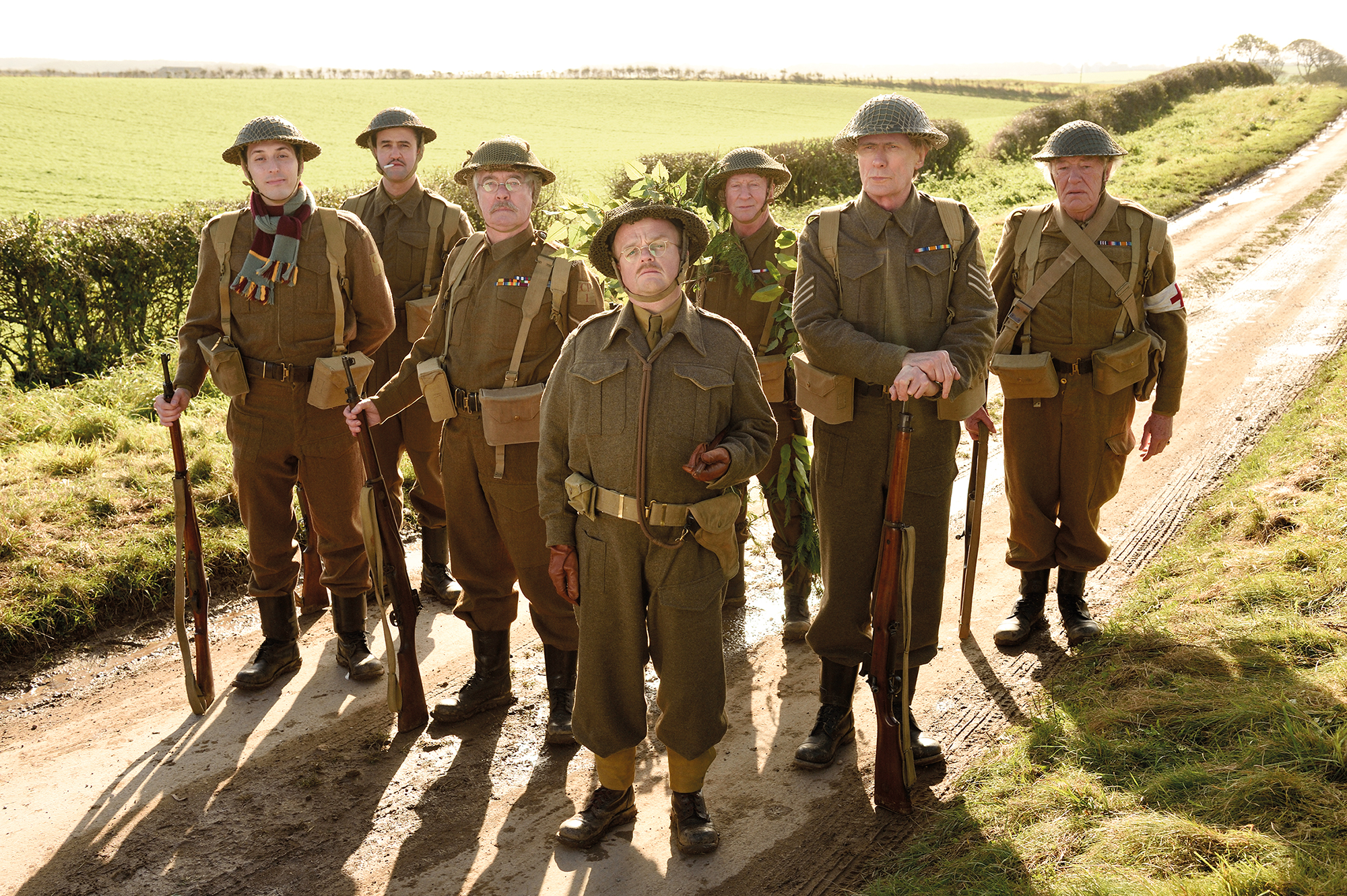 Daniel Mays (second left) with the Dad's Army cast