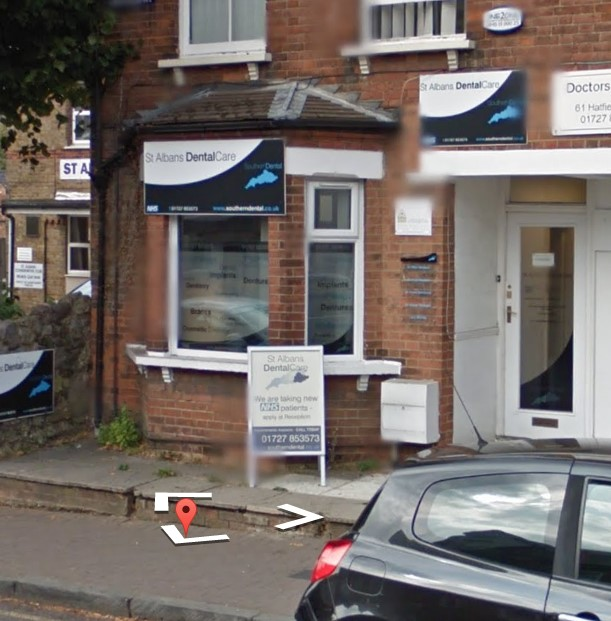 St Albans Dental and Anaesthetic Centre, Hatfield Road, St Albans received 2.5 stars. Image taken from Google Street View