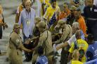 12 injured as part of Rio Carnival float collapses