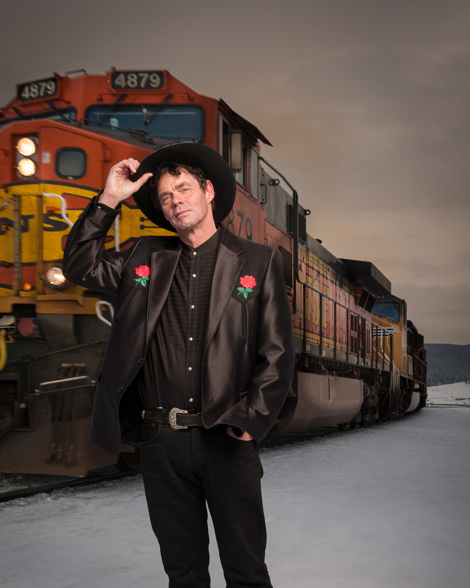 American comedian Rich Hall, photo by Rab Cummings