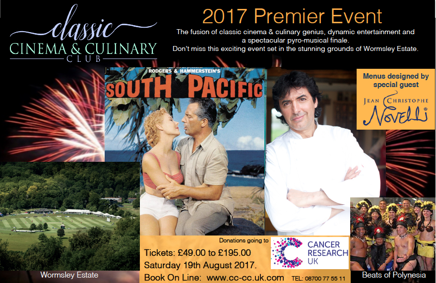 Classic Cinema & Culinary Club premier event 'South Pacific'