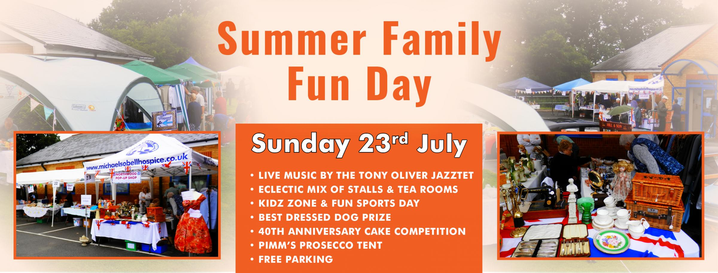Summer Family Fun Day in aid of Michael Sobell Hospice