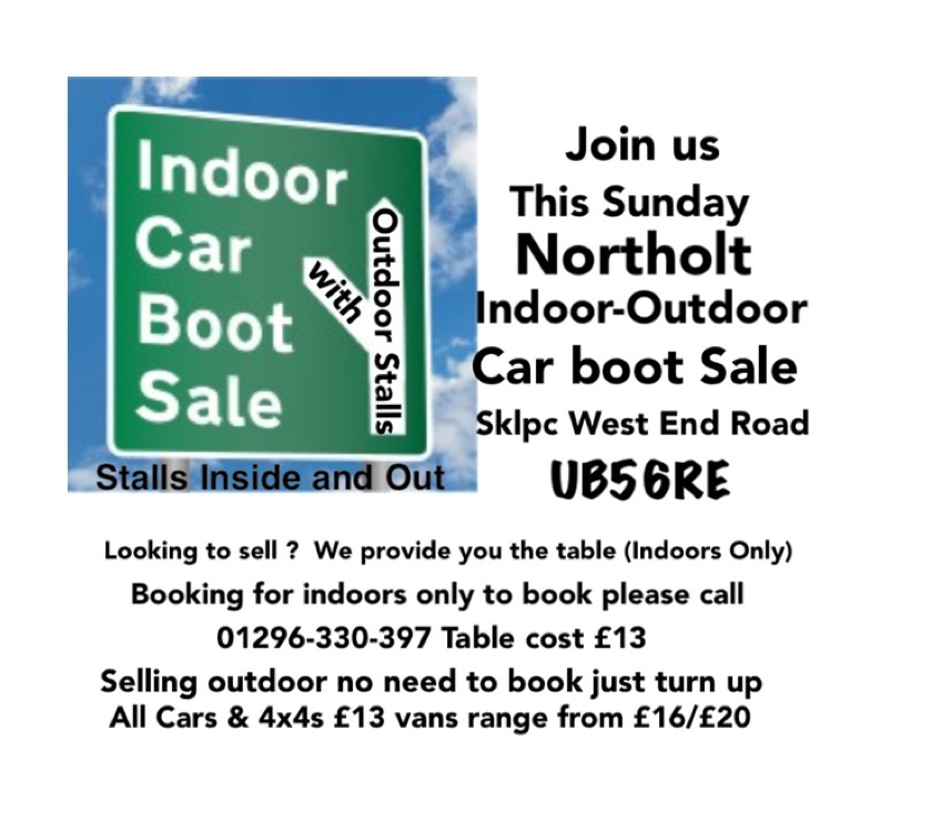 Northolt Indoor Outdoor Car Boot Sale
