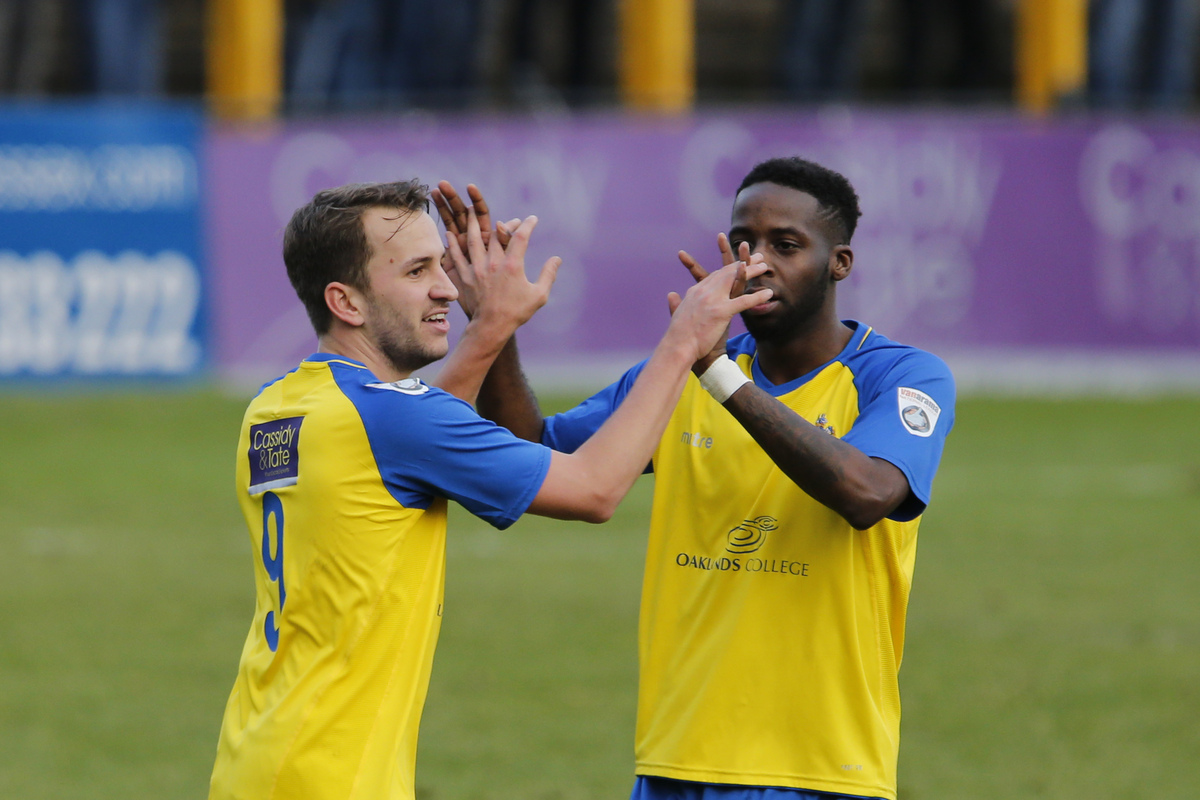 Sam Merson's double rescued a point for St Albans City in their first game against Hemel Hempstead Town over Christmas and New Year - but he had little impact in the return fixture at Vauxhall Road. Picture: Leigh Page