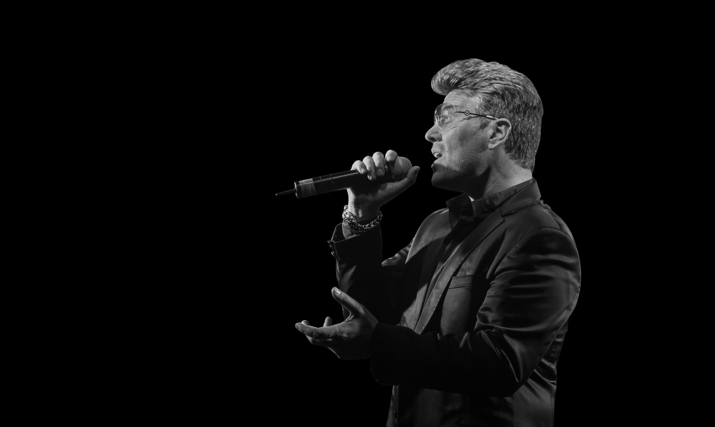 George Michael tribute artist Wayne Dilks