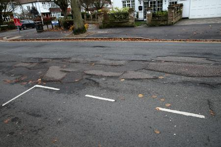 Drivers have suffered with almost double the number of potholes this January compared to 2017