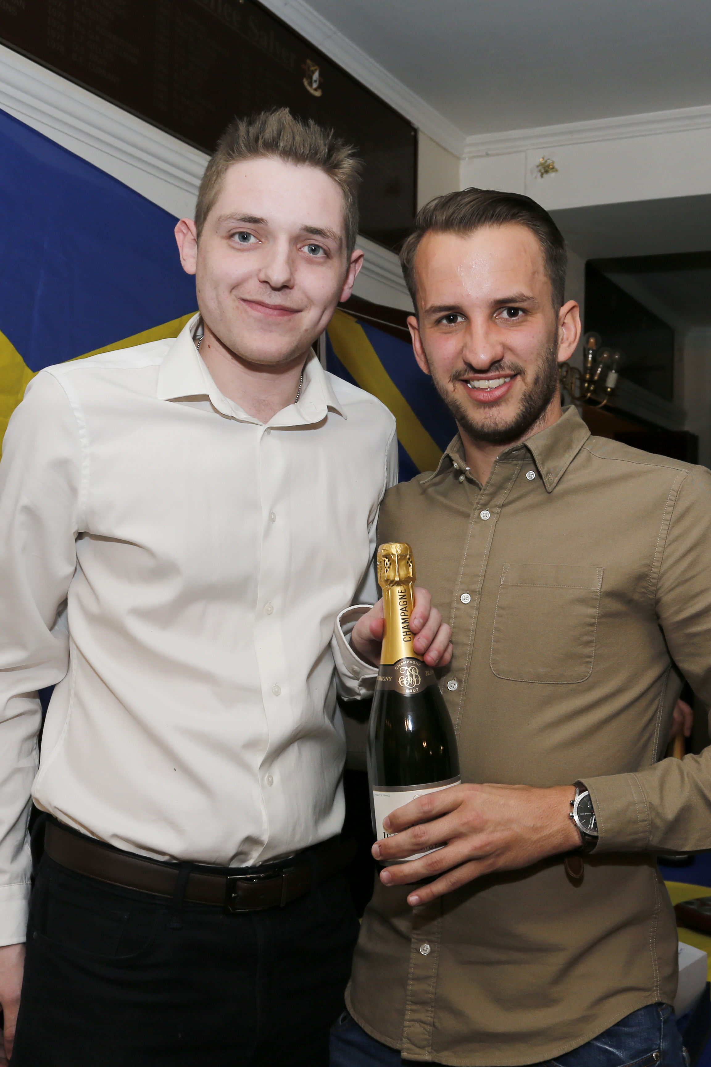 Sam Merson (right) was named Supporters' Player of the Season. Picture: Leigh Page