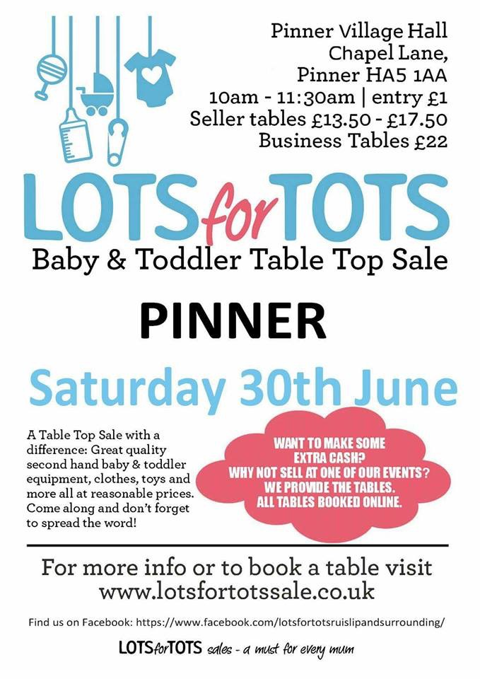 LOTS FOR TOTS TABLE TOP SALE PINNER