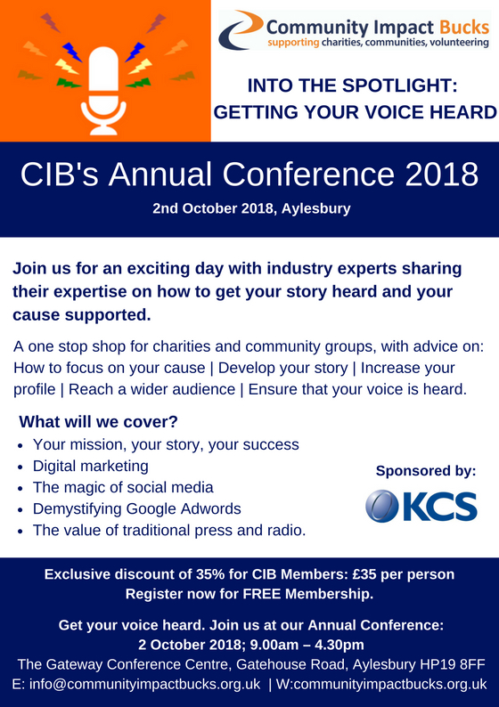 Community Impact Bucks' Annual Conference Into the Spotlight: Getting your voice heard
