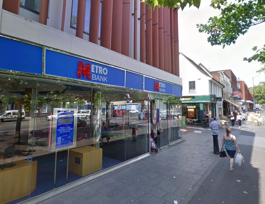 The Metro Bank in St Peter's Street, St Albans, photo by Google Maps