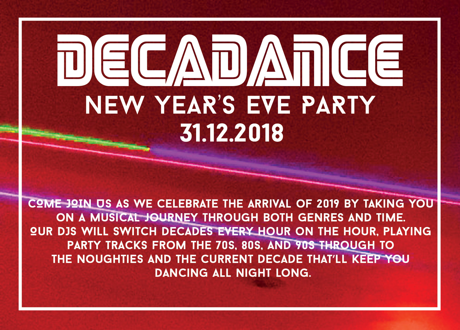 Decadance New Year's Eve Party at Clayton's Marlow