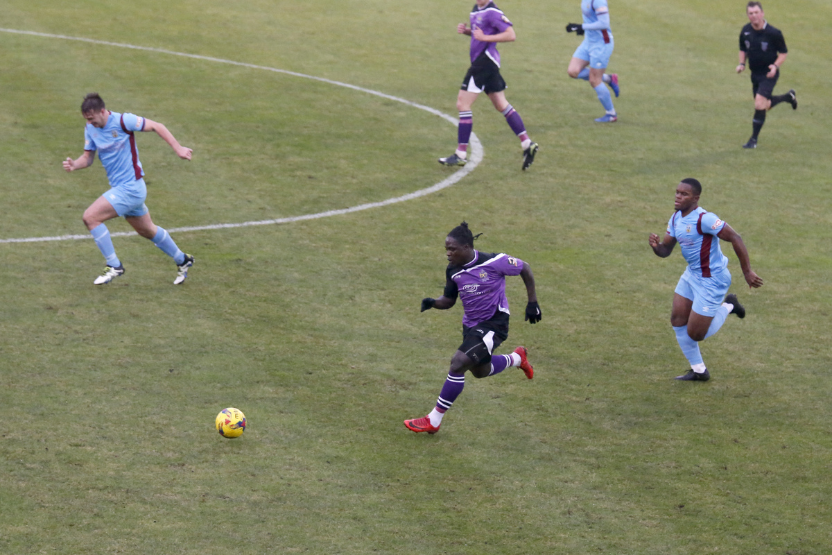 Solomon Sambou scored the Saints equaliser to earn a replay for the Saints. Picture: Leigh Page