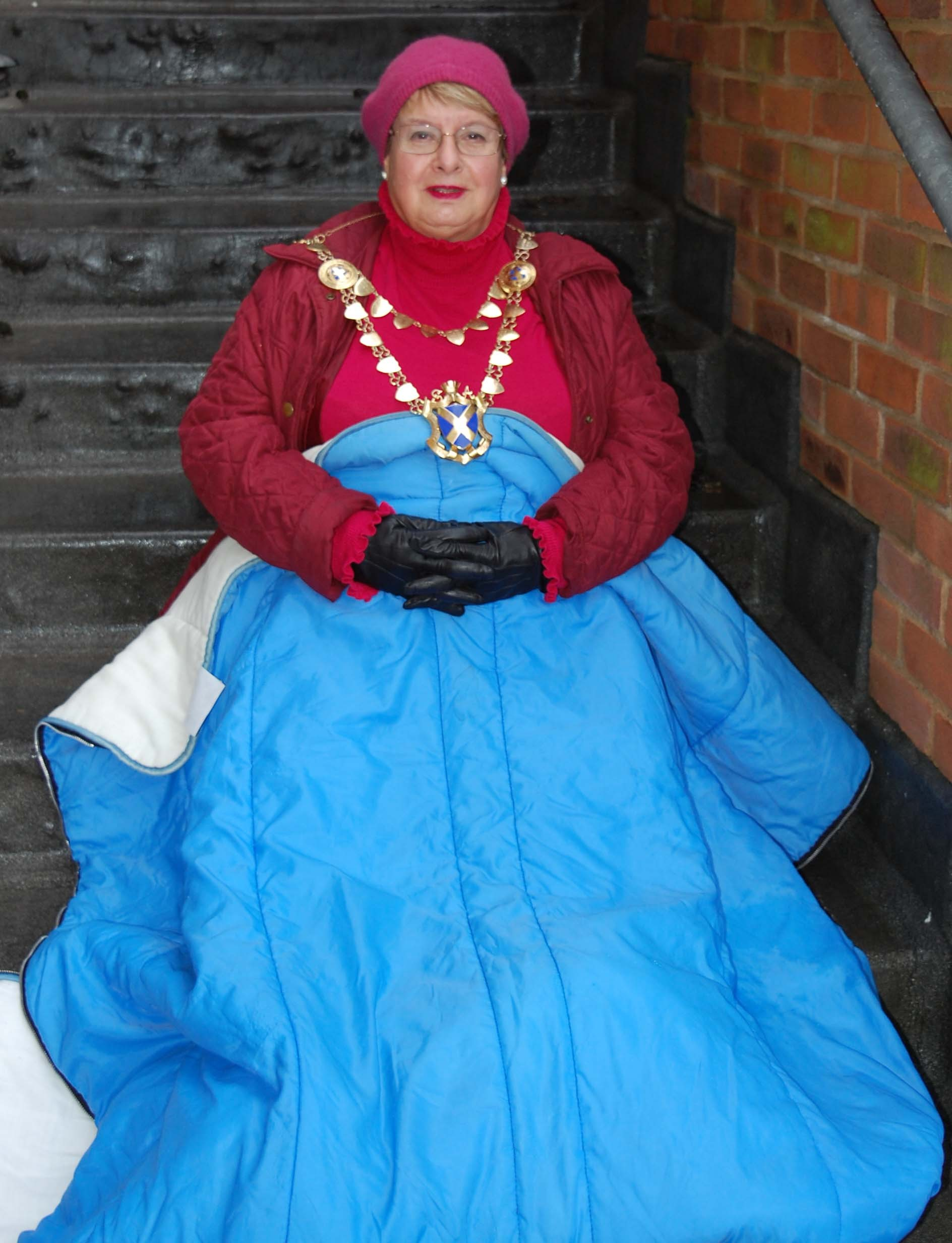 St Albans Mayor Councillor Rosemary Farmer will be braving the cold at St Albans Sleepout on Friday