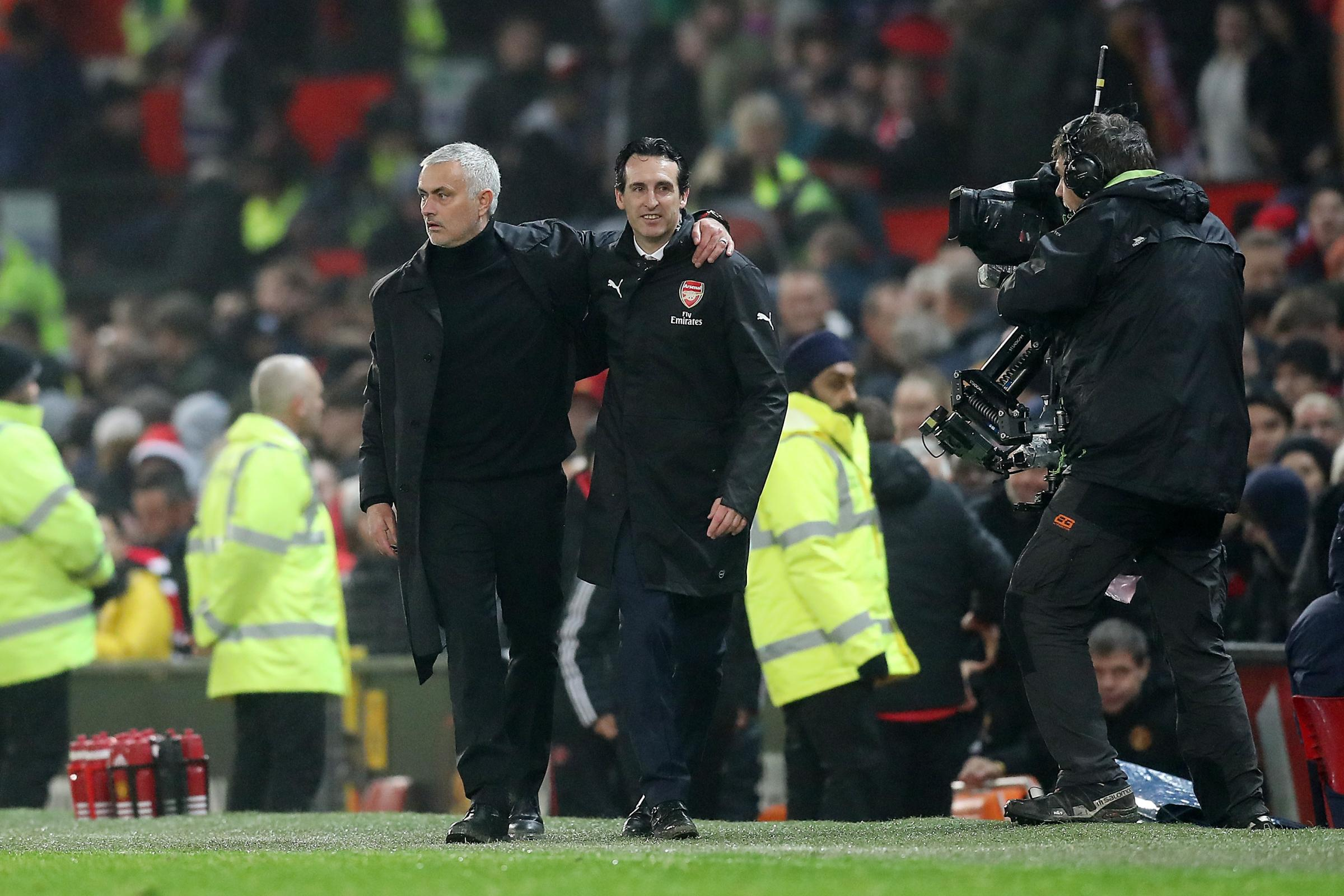 Jose Mourinho's Manchester United and Unai Emery's Arsenal played out an entertaining draw