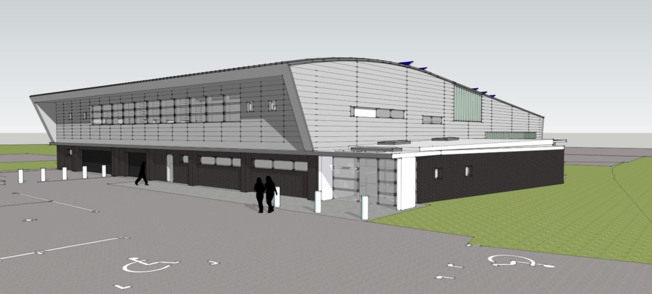 Artist's impression of the new air ambulance building