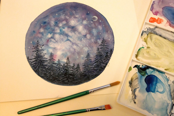 Adult Art Course: Paint a Night Sky