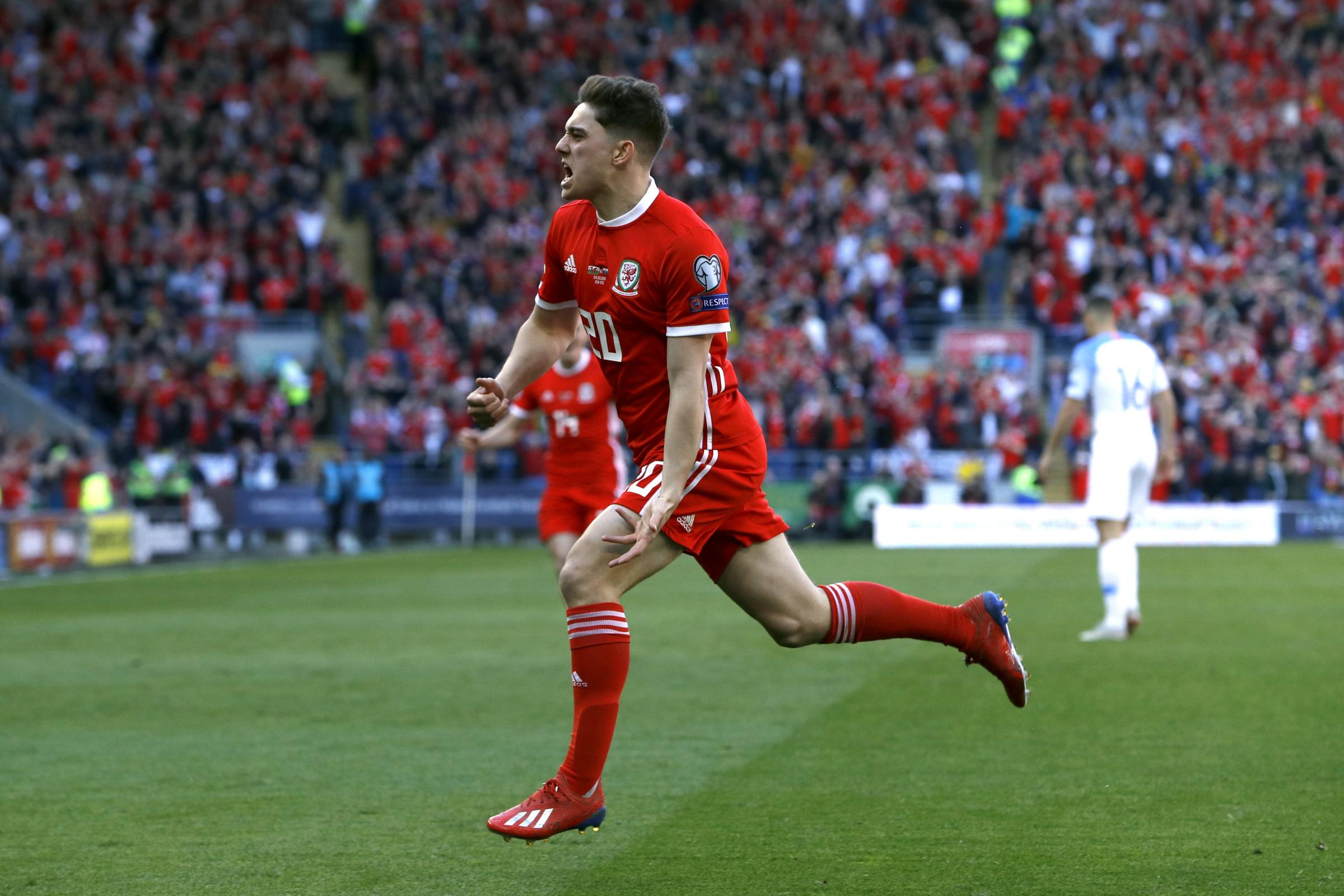Daniel James scored Wales' winner in the Euro 2020 qualifier against Slovakia on his first competitive start for his country