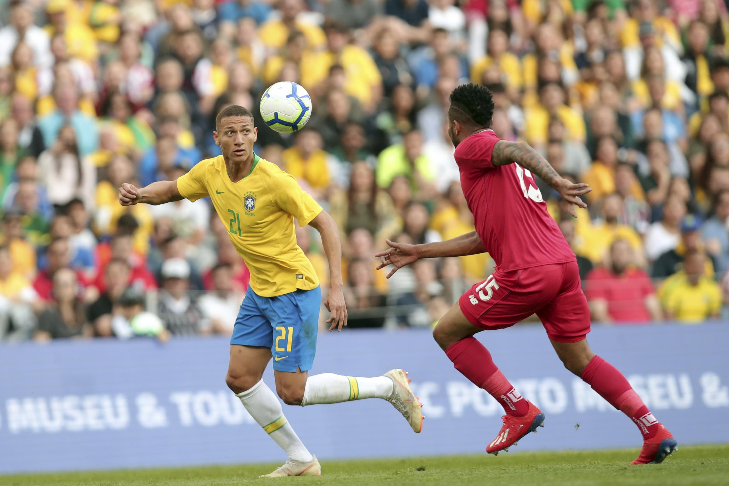 Richarlison is relishing his role in the Brazil squad (