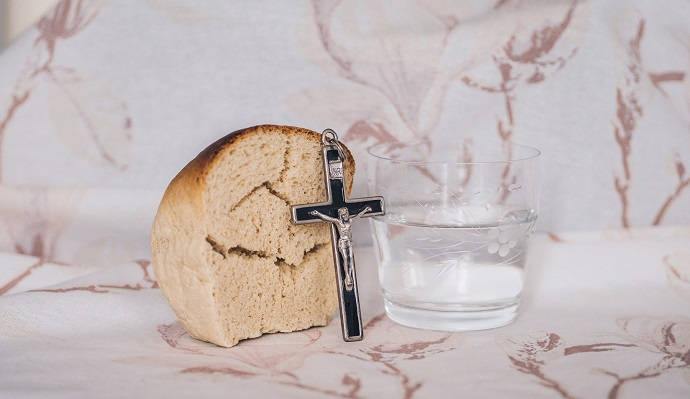 The bread and the wine of Holy Communion, where Christians remember Christ's death and resurrection. Photo: Unsplash