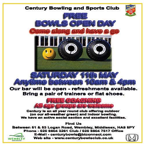 Century Bowling and Sports Club  OPEN DAY