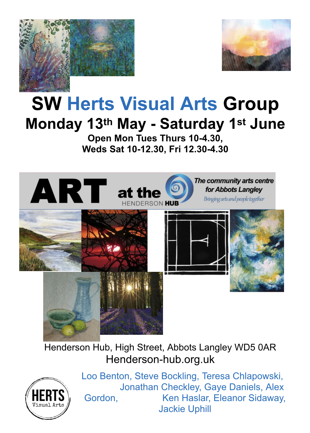 SW Herts Art Exhibition at The Henderson Hub